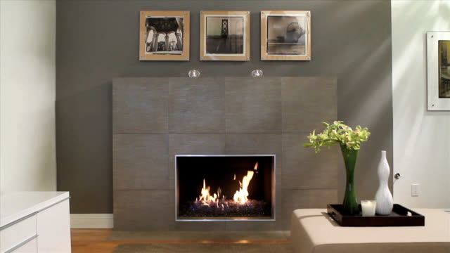 MODERN FIREPLACE clean modern fireplace fireplace stock videos & royalty-free footage