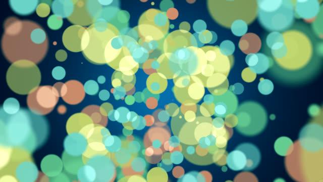 vidéos et rushes de big couleurs-boucle hd de particules - abaisser