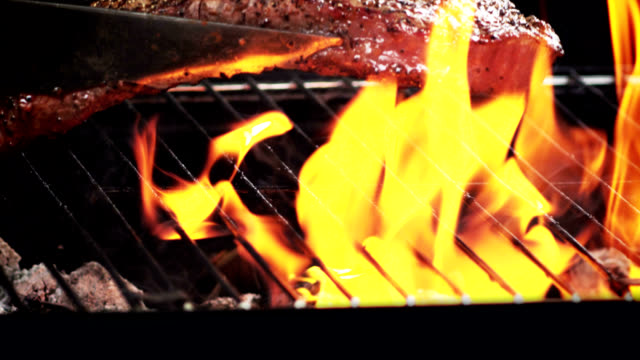 GRILLED STEAK-SLOW MOTION video