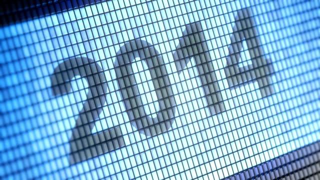 2014 - kalender icon stock-videos und b-roll-filmmaterial