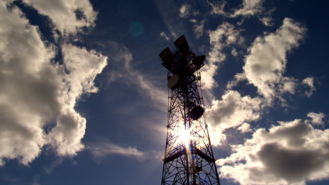COMMUNICATIONS TOWER TIME LAPSE video