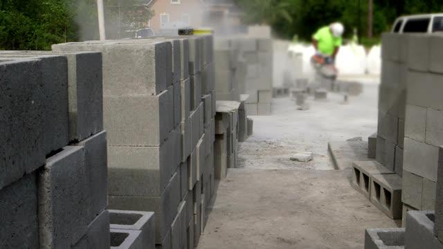CONSTRUCTION SITE-CINDER BLOCKS video