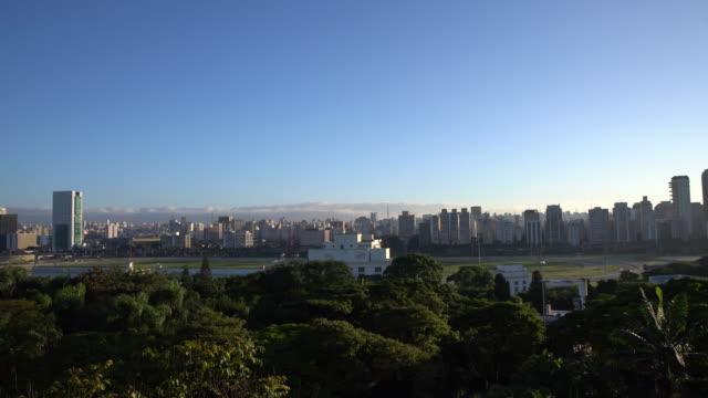CITYSCAPE - SAO PAULO View to the city from the marginal pinheiros. marginal pinheiros stock videos & royalty-free footage