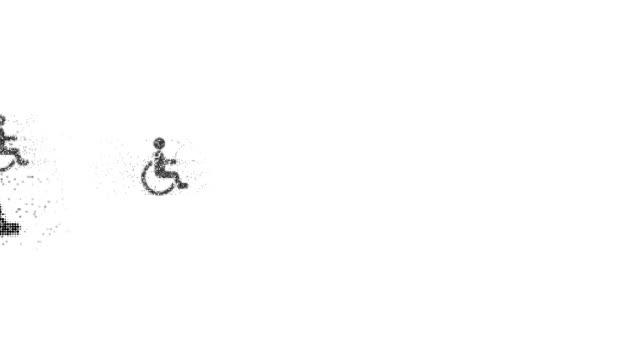 vídeos de stock, filmes e b-roll de cadeiras de rodas: (arco - geriatria