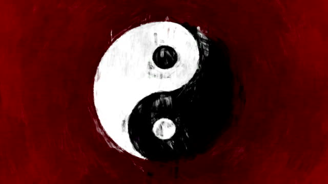 ART YIN YANG SYMBOL Symbol Yin Yang with  yin yang symbol stock videos & royalty-free footage