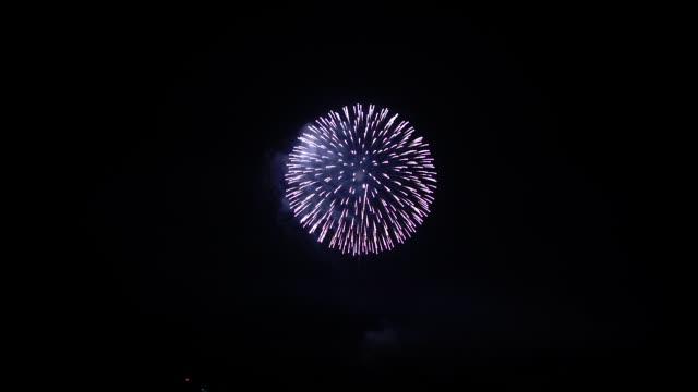 打上げ花火 - 花火点の映像素材/bロール