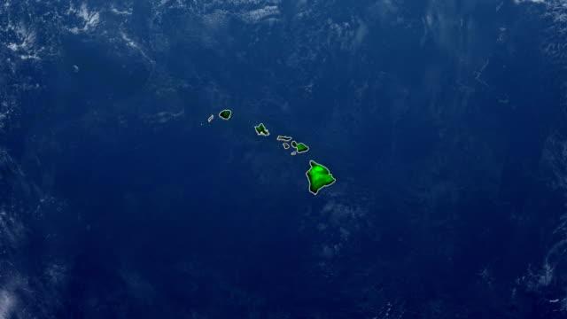 vídeos de stock e filmes b-roll de hawaii map - oceano pacífico