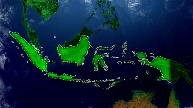 indonesia map - индонезия стоковые видео и кадры b-roll