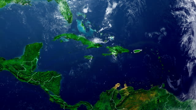 PUERTO RICO MAP PUERTO RICO DIGITAL MAP puerto rico stock videos & royalty-free footage