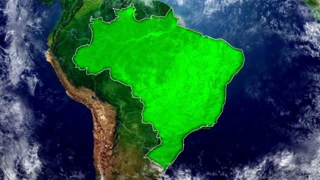 vídeos de stock, filmes e b-roll de mapa do brasil - brazil map