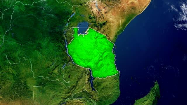 TANZANIA MAP TANZANIA DIGITAL MAP tanzania stock videos & royalty-free footage