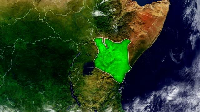 vídeos de stock e filmes b-roll de kenya map - quénia