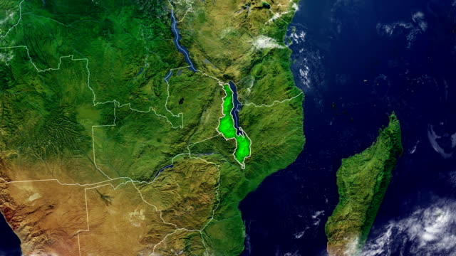 MAPA DE MALAWI - vídeo