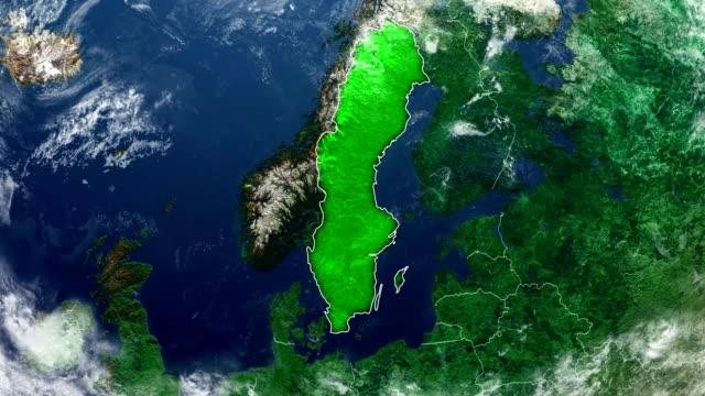 sverige karta - sweden map bildbanksvideor och videomaterial från bakom kulisserna