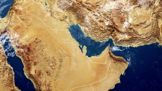 bahrain karta - mellanöstern bildbanksvideor och videomaterial från bakom kulisserna