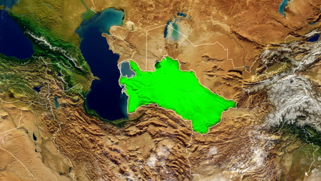 TURKMENISTAN MAP TURKMENISTAN DIGITAL MAP turkmenistan stock videos & royalty-free footage