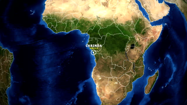 EARTH ZOOM IN MAP - ANGOLA, BENGUELA ANGOLA, BENGUELA ZOOM IN FROM SPACE. equator line stock videos & royalty-free footage