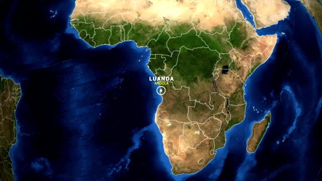 EARTH ZOOM IN MAP - ANGOLA, LUANDA video