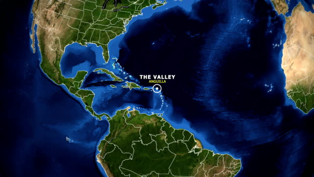 EARTH ZOOM IN MAP - ANGUILLA, THE VALLEY video