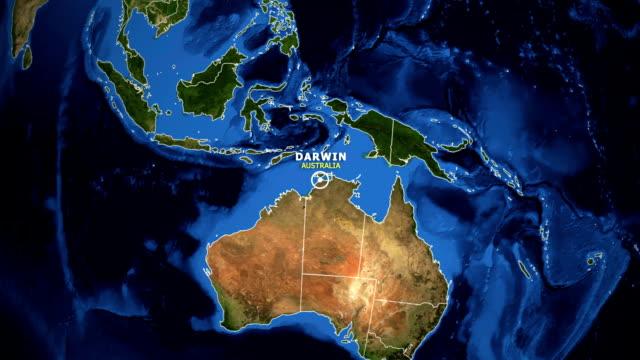 地球變焦地圖-澳大利亞達爾文 - 亞太地區 個影片檔及 b 捲影像