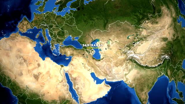 EARTH ZOOM IN MAP - AZERBAIJAN SABIRABAD AZERBAIJAN SABIRABAD - ZOOM IN FROM SPACE equator line stock videos & royalty-free footage