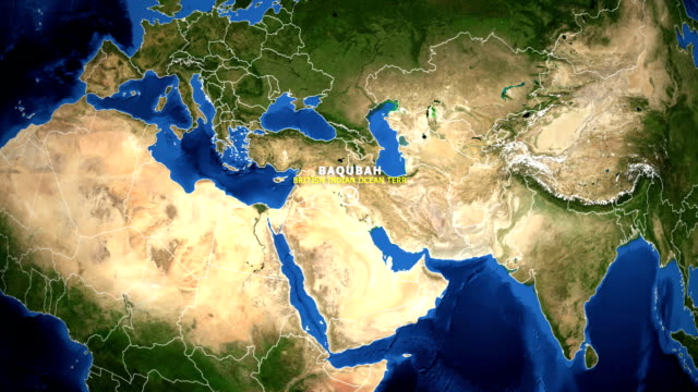 EARTH ZOOM IN MAP - BRITISH INDIAN OCEAN TERR BAQUBAH BRITISH INDIAN OCEAN TERR BAQUBAH - ZOOM IN FROM SPACE equator line stock videos & royalty-free footage
