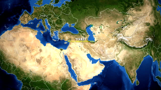 EARTH ZOOM IN MAP - BRITISH INDIAN OCEAN TERR TIKRIT BRITISH INDIAN OCEAN TERR TIKRIT - ZOOM IN FROM SPACE equator line stock videos & royalty-free footage