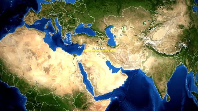 EARTH ZOOM IN MAP - BRITISH INDIAN OCEAN TERR NAJAF BRITISH INDIAN OCEAN TERR NAJAF - ZOOM IN FROM SPACE equator line stock videos & royalty-free footage