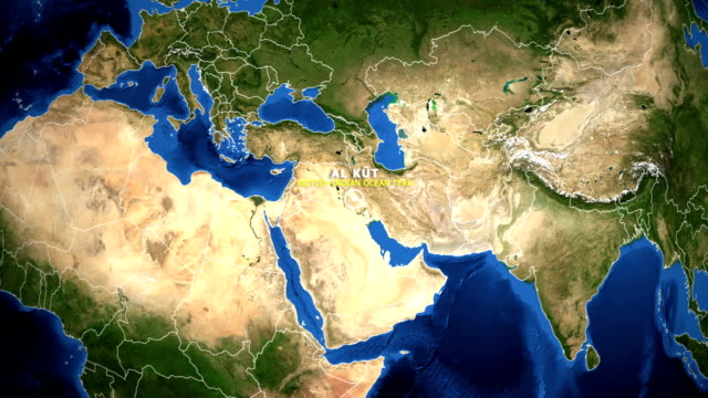 EARTH ZOOM IN MAP - BRITISH INDIAN OCEAN TERR AL KUT BRITISH INDIAN OCEAN TERR AL KUT - ZOOM IN FROM SPACE equator line stock videos & royalty-free footage