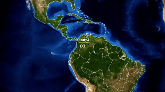 jorden zooma i kartan - colombia bogota - colombia bildbanksvideor och videomaterial från bakom kulisserna