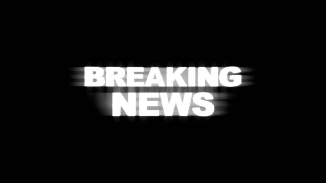 BREAKING NEWS BREAKING NEWS Glitch Text Animation (3 Versions with Alpha Channel), Rendering, Background, Loop, 4k breaking stock videos & royalty-free footage