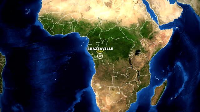 EARTH ZOOM IN MAP - CONGO BRAZZAVILLE video