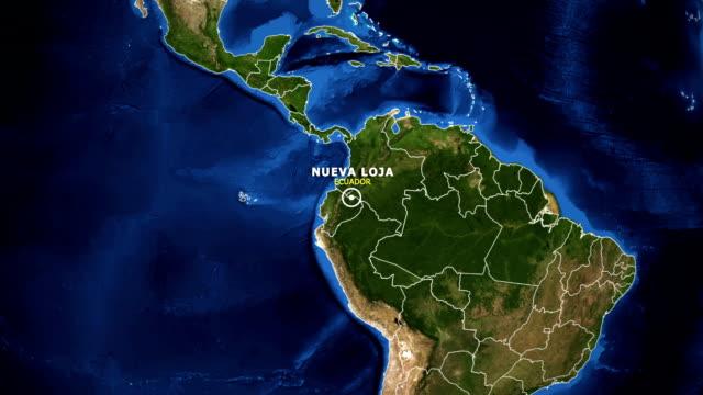 vídeos de stock, filmes e b-roll de terra de zoom no mapa - equador nueva loja - equador latitude