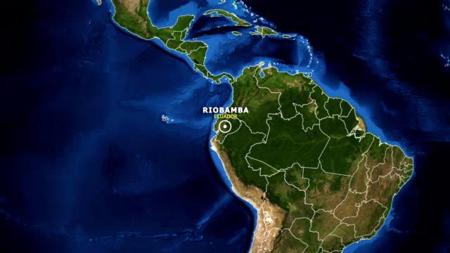 vídeos de stock, filmes e b-roll de terra de zoom no mapa - equador riobamba - equador latitude