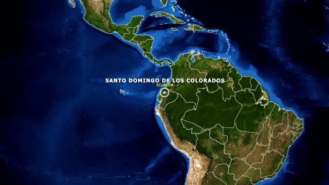 vídeos de stock, filmes e b-roll de terra de zoom no mapa - equador santo domingo de los colorados - equador latitude