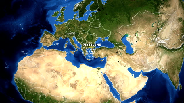 EARTH ZOOM IN MAP - GREECE MYTILENE
