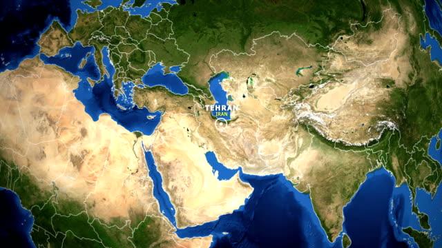 EARTH ZOOM IN MAP - IRAN TEHRAN