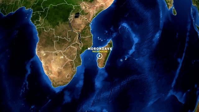 jorden zooma i kartan - madagaskar morondava - morondava bildbanksvideor och videomaterial från bakom kulisserna