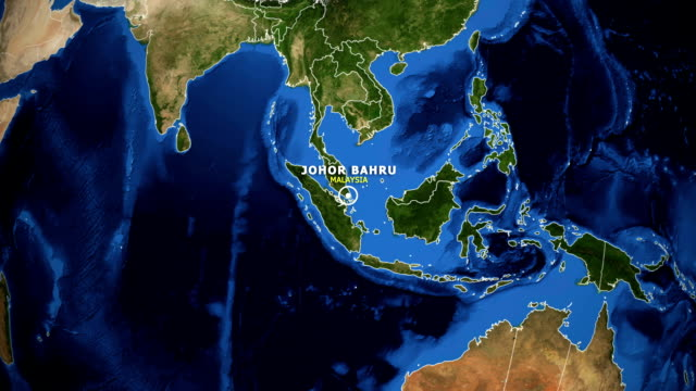 EARTH ZOOM IN MAP - MALAYSIA JOHOR BAHRU MALAYSIA JOHOR BAHRU ZOOM IN FROM SPACE johor bahru stock videos & royalty-free footage