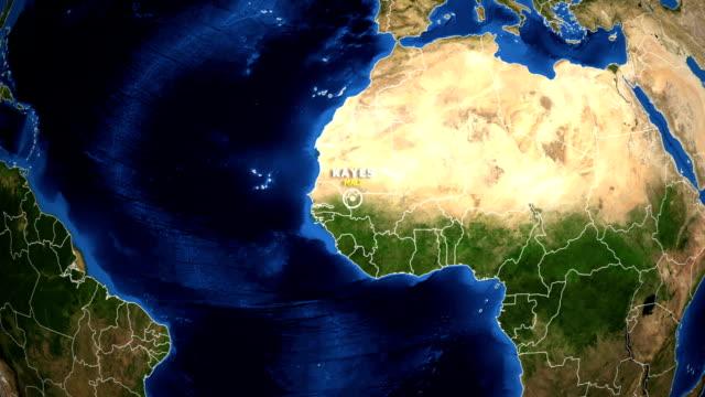 jorden zooma i kartan - mali kayes - ekvatorn latitud bildbanksvideor och videomaterial från bakom kulisserna