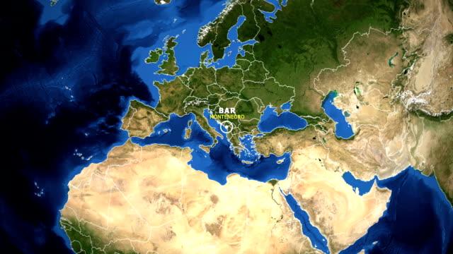 EARTH ZOOM IN MAP - MONTENEGRO BAR
