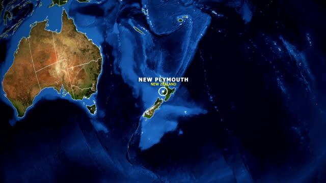mapa powiększenia ziemi - nowa zelandia nowy plymouth - new plymouth filmów i materiałów b-roll