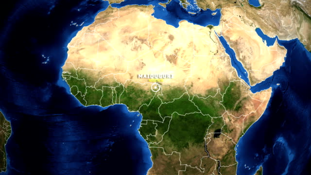 EARTH ZOOM IN MAP - NIGERIA MAIDUGURI video