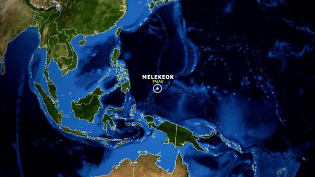 vídeos y material grabado en eventos de stock de tierra ampliar mapa - palau melekeok - palaos