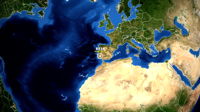 EARTH ZOOM IN MAP - PORTUGAL BEJA video