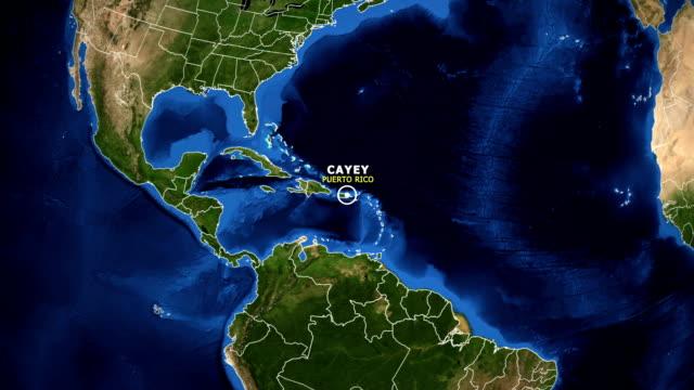 jorden zooma i kartan - puerto rico cayey - ekvatorn latitud bildbanksvideor och videomaterial från bakom kulisserna