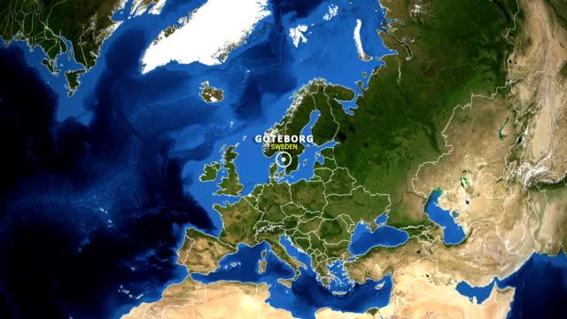 jorden zooma i kartan - sverige göteborg - sweden map bildbanksvideor och videomaterial från bakom kulisserna