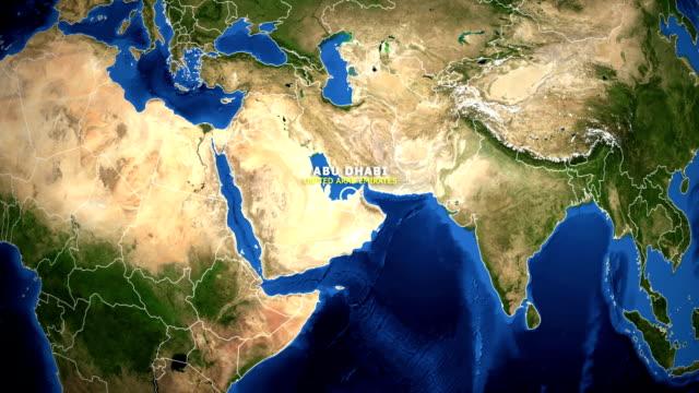 dünya zoom hari̇ta - bi̇rleşi̇k arap emi̇rli̇kleri̇ abu dhabi - abu dhabi stok videoları ve detay görüntü çekimi