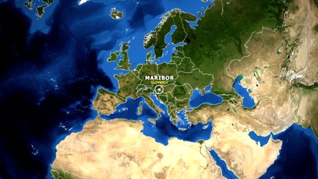 dünya hari̇tasi - zoom slovenya maribor - styria stok videoları ve detay görüntü çekimi
