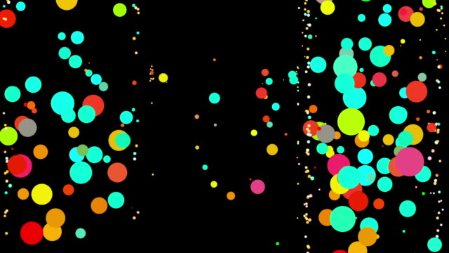 BOUNCING DANCING COLOR DOTS